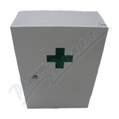 Zobrazit detail - Lékárnička dřevěná bílá 43x30x14cm prázd. Steriwund