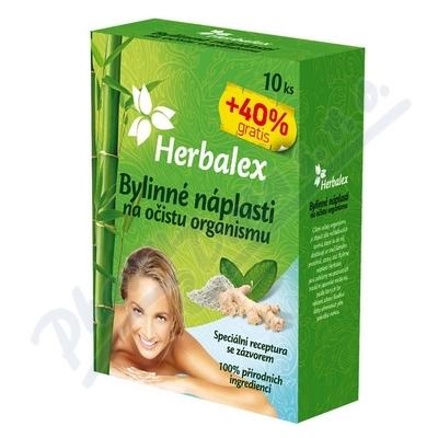 Zobrazit detail - Herbalex bylin.  detoxik.  náplasti 10ks +40% gratis