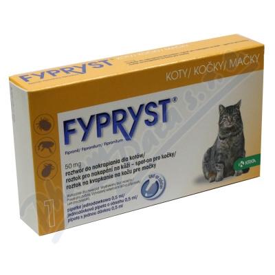 Zobrazit detail - Fypryst Cat 1x0. 5ml spot-on pro kočky