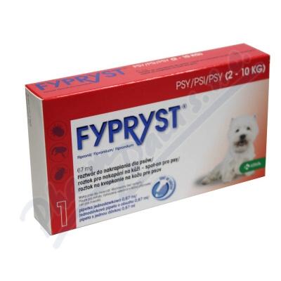 Zobrazit detail - Fypryst Dogs 1x0. 67ml spot-on pro psy