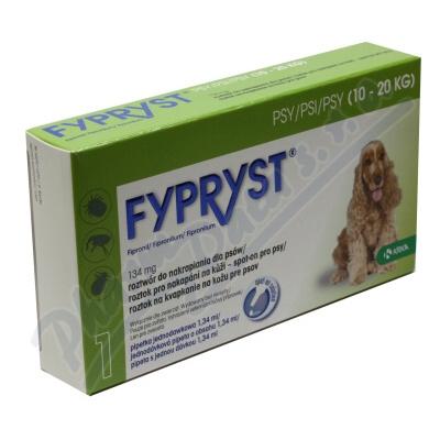 Zobrazit detail - Fypryst Dogs 1x1. 34ml spot-on pro psy