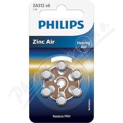 Zobrazit detail - Baterie do naslouchadel PHILIPS ZA312B6A-10 6ks
