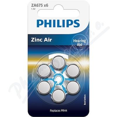 Zobrazit detail - Baterie do naslouchadel PHILIPS ZA675B6A-10 6ks