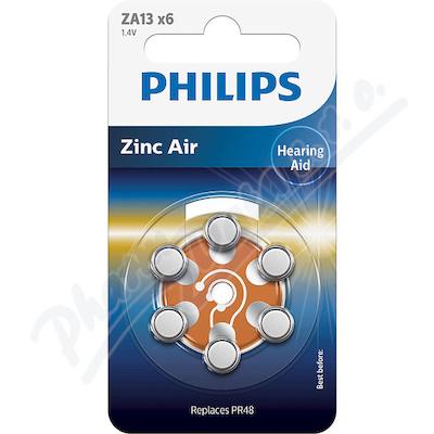 Zobrazit detail - Baterie do naslouchadel PHILIPS ZA13B6A 6ks