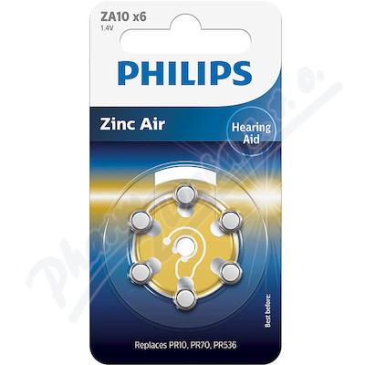 Zobrazit detail - Baterie do naslouchadel PHILIPS ZA10B6A-10 6ks