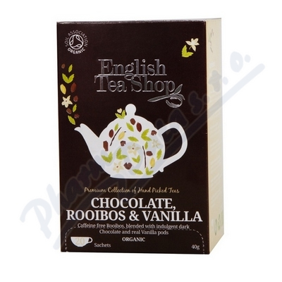 Zobrazit detail - English Tea Shop Bio Čaj Čok. Rooibos Vanilka 20s.