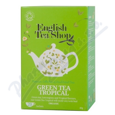 Zobrazit detail - English Tea Shop Bio Zelený Čaj Trop. Ovoce 20s.