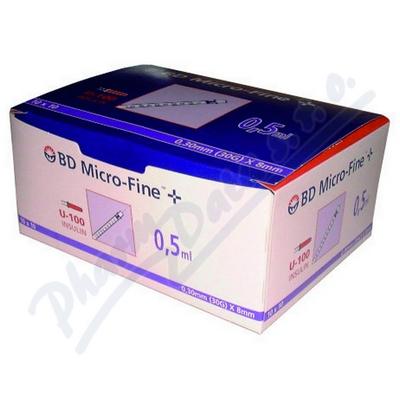 Inzulin.stříkačky BD 0.5ml 30G x 8mm U-100 100ks