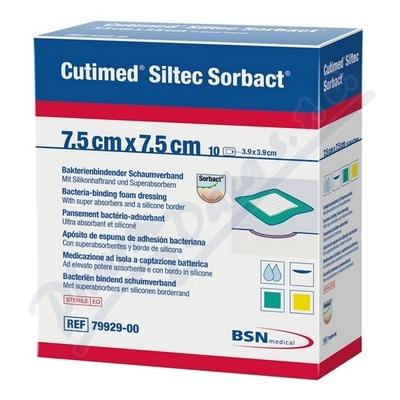 Zobrazit detail - Cutimed Siltec Sorbact 7. 5x7. 5cm antimikr. kr. 10ks