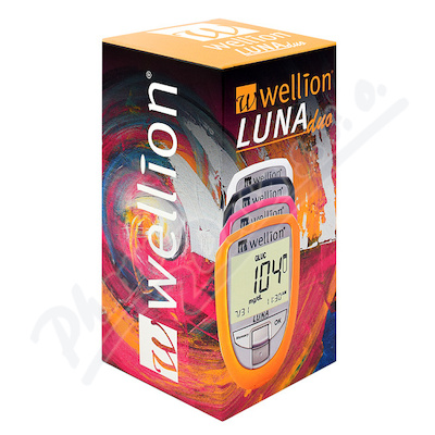 Glukometr Wellion LUNA DUO set růžový