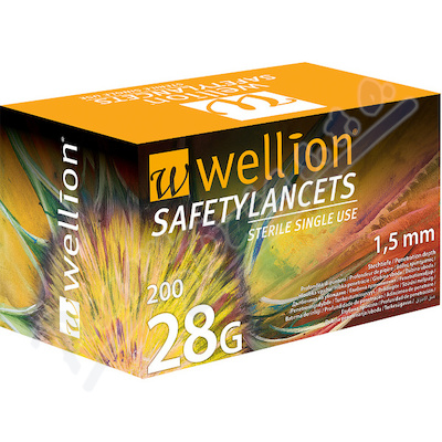 Zobrazit detail - Wellion Safety Lancets jehly jednorázové 28G 200ks
