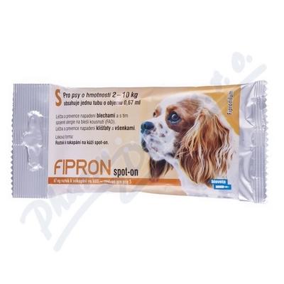 Zobrazit detail - FIPRON 67mg k nakapání na kůži-spot-on pro psy S