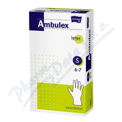 Zobrazit detail - Ambulex rukavice latexové jemně pudrované S 100ks