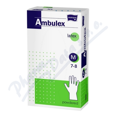 Zobrazit detail - Ambulex rukavice latexové jemně pudrované M 100ks