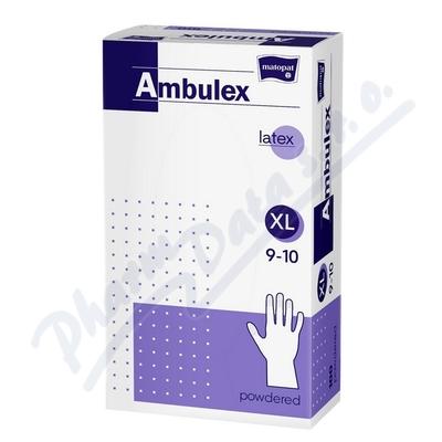 Zobrazit detail - Ambulex rukavice latexové jemně pudrované XL 100ks