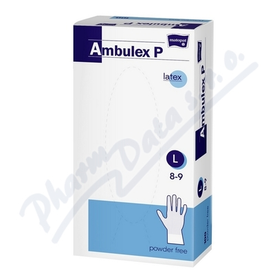 Ambulex P rukavice latexové nepudrované L 100ks