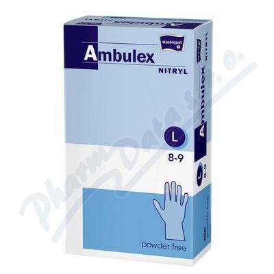 Zobrazit detail - Ambulex Nitryl rukavice nitril. nepudrované L 100ks