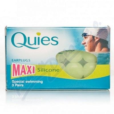 Zobrazit detail - Quies Silik. chrániče sluchu MAXI 3 páry -plavání