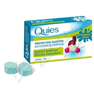 Zobrazit detail - Quies Silik. chrániče sluchu pro děti 3páry-plavání
