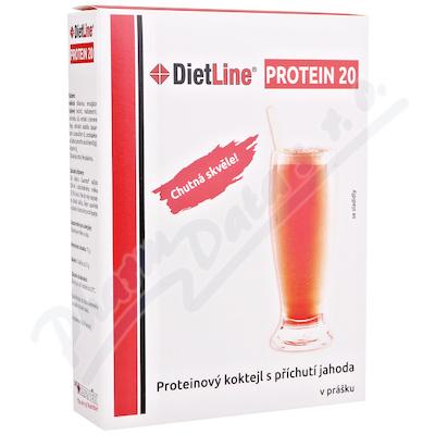 Zobrazit detail - DietLine Protein 20 Koktejl Jahoda 3 sáčky