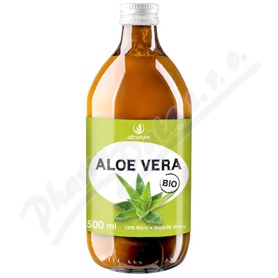Zobrazit detail - Allnature Aloe Vera BIO 100% šťáva 500 ml