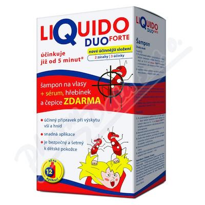 LiQuido DUO FORTE šampon na vši 200ml+sérum