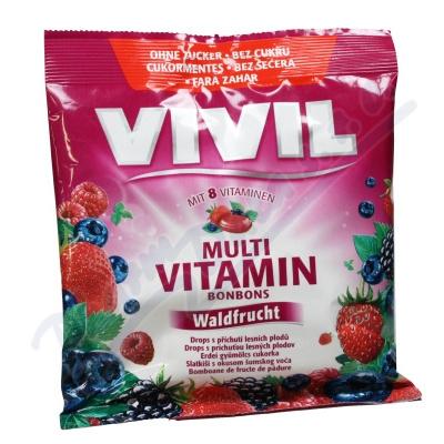 Zobrazit detail - Vivil Multivitamín lesní plody 8vit.  bez cukru 60g