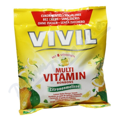Zobrazit detail - Vivil Multivitam�n citr+medu�ka 8vit. bez cukru 60g