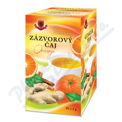 Zobrazit detail - HERBEX Zázvorový čaj Orange (Pomeranč) 20x2 g