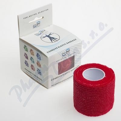 KineMAX Cohesive elast.samofix.5cmx4.5m červené