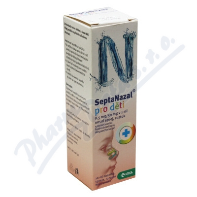 Zobrazit detail - Septanazal d�ti 0. 5mg-50mg v 1ml nas. spr. so. 1x10ml
