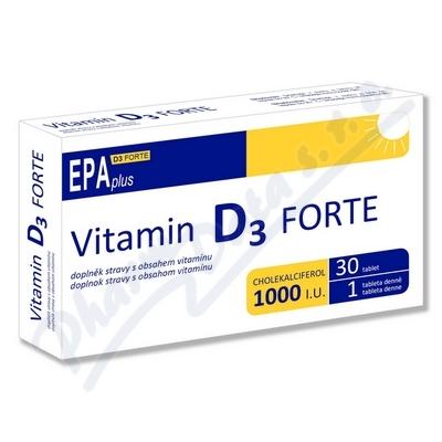 Zobrazit detail - Vitamin D3 FORTE 1000 I. U.  EPA plus tbl. 30