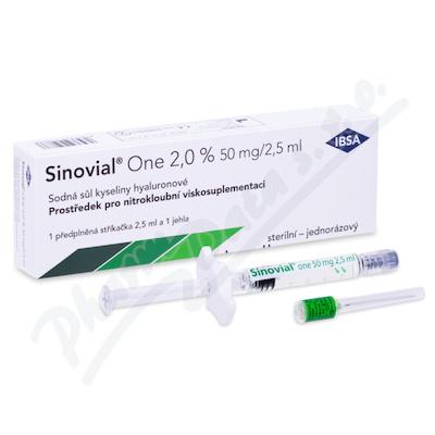 Zobrazit detail - Sinovial ONE (2%)roztok elastoviskózní. inj. 1x2. 5ml
