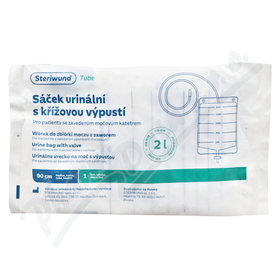 Zobrazit detail - Sáček urinální 2000ml s křížovou výpustí Steriwund