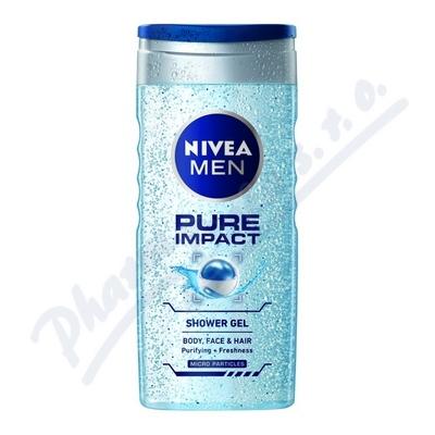 NIVEA Sprchový gel muži PURE IMPACT 250ml 80892