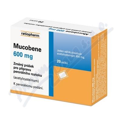 Mucobene 600mg por.gra.sol.scc.20x3g-600mg-SA