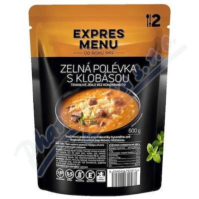 Zobrazit detail - EXPRES MENU Zelná polévka s klobásou 2 porce