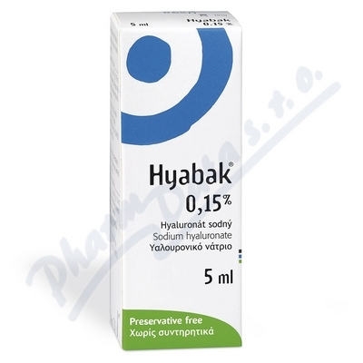 Zobrazit detail - Hyabak 0. 15% gtt. oph.  5ml