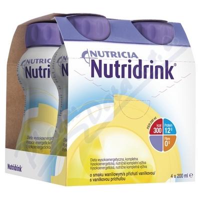 Zobrazit detail - Nutridrink s příchutí vanilkovou por. sol. 4x200ml