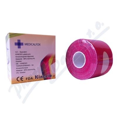 Kinesio FOX - MUSCLE tejp 5cm x 5m růžový