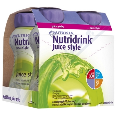 Zobrazit detail - Nutridrink Juice Style s př. jablko por. sol. 4x200ml
