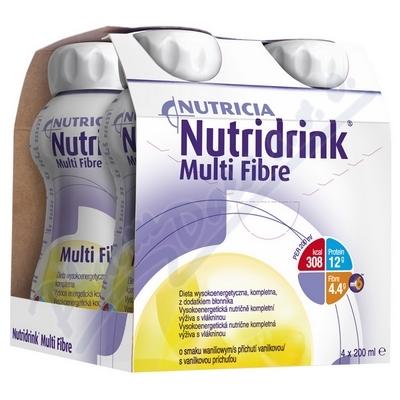 Zobrazit detail - Nutridrink Multi Fibre s př. vanil.  por. sol. 4x200ml