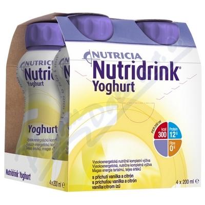 Zobrazit detail - Nutridrink Yoghurt s př. vanil+citr. por. sol. 4x200ml