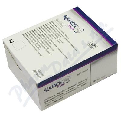 Aquacel foam Ag neadhesivní 5x5cm 10ks
