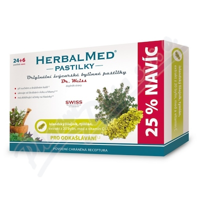 Zobrazit detail - HerbalMed past.  Dr. Weiss Isl. liš+tym+med+vitC 24+6