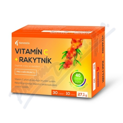 Zobrazit detail - Vitamín C + Rakytník tbl. 30+10