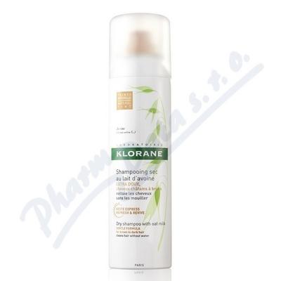 KLORANE Suchý šampon oves-tmavé vlasy 150ml
