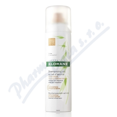 Zobrazit detail - KLORANE Suchý šampon s oves. mlék. 150ml-hnědé vlasy