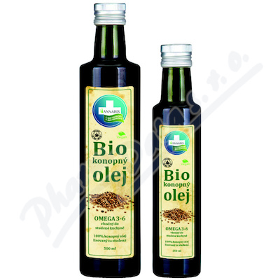 100% Bio konopn� olej 500ml