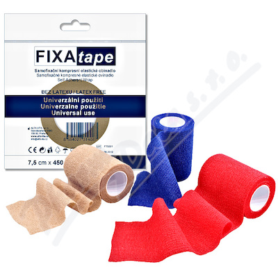 FIXAtape Stretch samofix.obinadlo 7.5x450cm mix